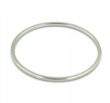10pcs x 25mm Rhodium closed ring